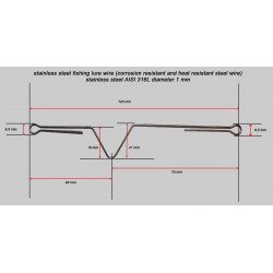 Armature inox pour leurre 120 / 130 mm