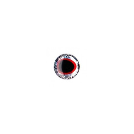 3D eyes oval pupill 5 mm (28 units) color red / silver