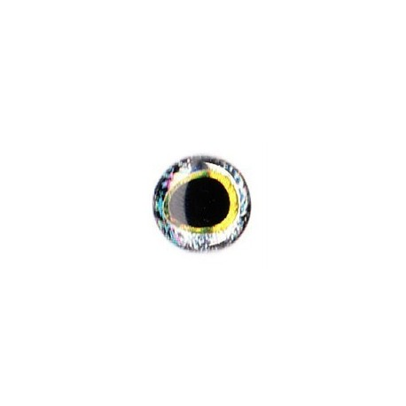 3D eyes oval pupille 5 mm (28 units) color silver / gold