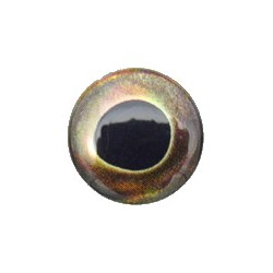 3D eyes oval pupill 10 mm brown (20 pcs)