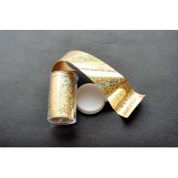 film holographic gold dots